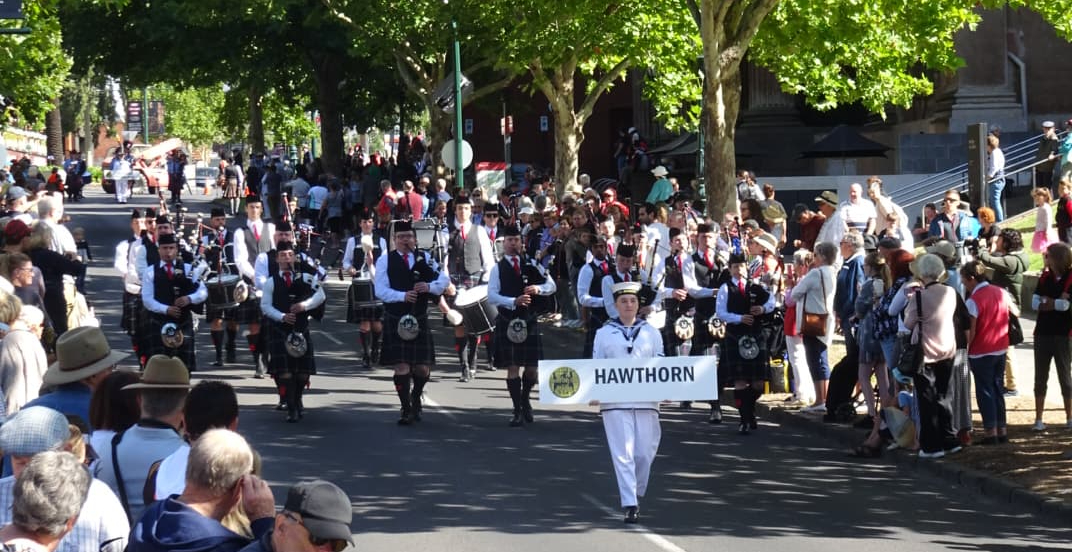 Hawthorn Pipe Band.